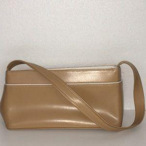 LONGCHAMP authentic camel leather shoulder bag